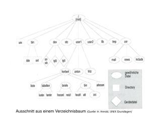 Ausschnitt aus einem Verzeichnisbaum  (Quelle: H. Herold, UNIX Grundlagen)