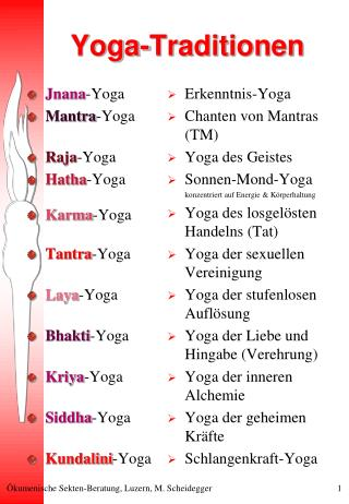 Yoga-Traditionen