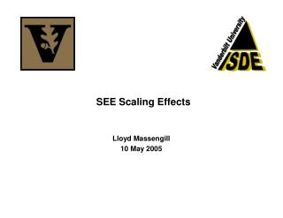 SEE Scaling Effects