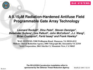 A 0.15 ? M Radiation-Hardened Antifuse Field Programmable Gate Array Technology