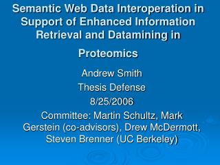 Andrew Smith Thesis Defense 8/25/2006