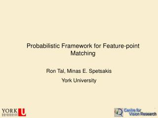 Probabilistic Framework for Feature-point Matching
