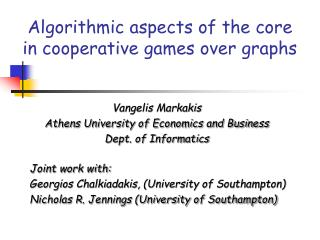 Algorithmic aspects of the core in cooperative games over graphs