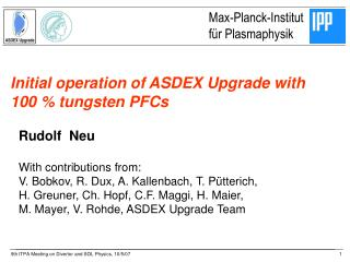 Initial operation of ASDEX Upgrade with  100 % tungsten PFCs