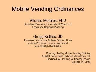 Mobile Vending Ordinances