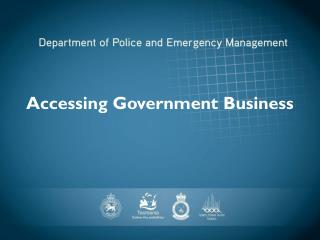 Accessing Government Business