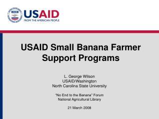 USAID Small Banana Farmer Support Programs