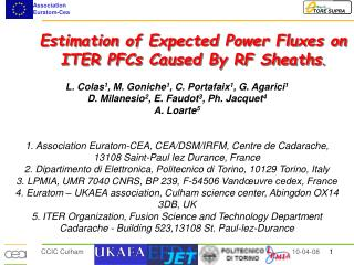 Estimation of Expected Power Fluxes on ITER PFCs Caused By RF Sheaths .