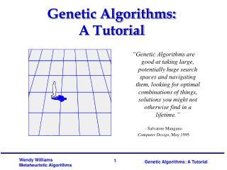Genetic Algorithms: A Tutorial