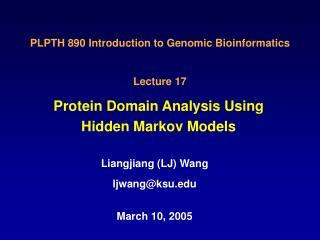 Protein Domain Analysis Using Hidden Markov Models