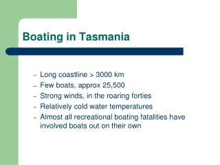 Boating in Tasmania