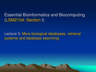 Biological databases Function and pathways databases - KEGG