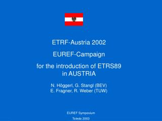 ETRF-Austria 2002 EUREF-Campaign for the introduction of ETRS89  in AUSTRIA