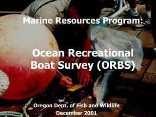 Marine Resources Program: Ocean Recreational  Boat Survey (ORBS)