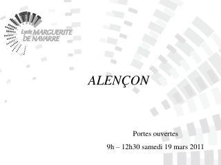 Portes ouvertes  9h – 12h30 samedi 19 mars 2011