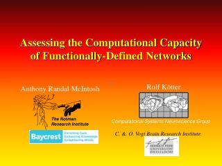Assessing the Computational Capacity of Functionally-Defined Networks