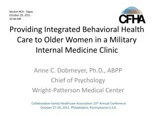 Providing Integrated Behavioral Health Care to Older Women in a Military Internal Medicine Clinic