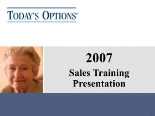 2007 Sales Training Presentation