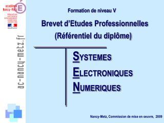 Formation de niveau V
