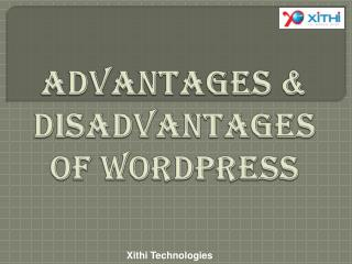 Advantages & Disadvantages of Wordpress