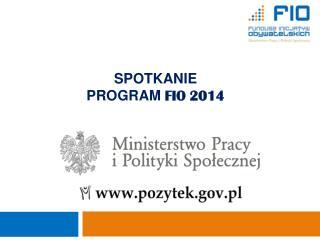 SPOTKANIE PROGRAM  FIO 2014
