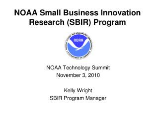 NOAA Small Business Innovation Research SBIR Program