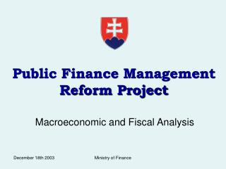 Public Finance Management Reform Project