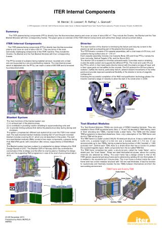 ITER Internal Components