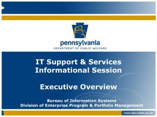 IT Support & Services Informational Session Executive Overview