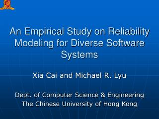 An Empirical Study on Reliability Modeling for Diverse Software Systems