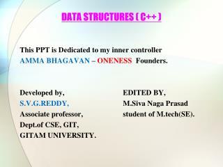 DATA STRUCTURES ( C++ )