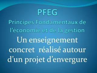 PFEG Principes Fondamentaux de l��conomie et de la gestion