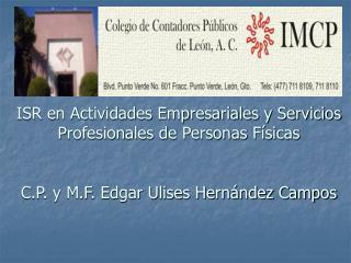 PERSONAS FISICAS EN GENERAL DISPOSICIONES GENERALES Consideraciones Iniciales