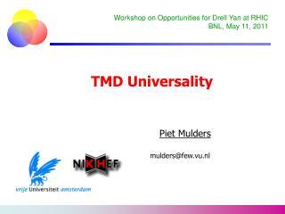 TMD Universality