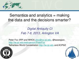 Semantics and analytics = making the data and the decisions smarter?