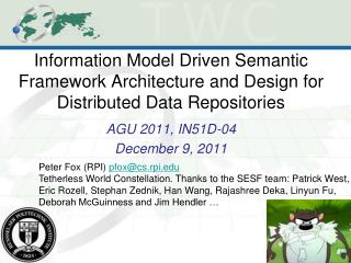 AGU 2011, IN51D-04 December 9, 2011
