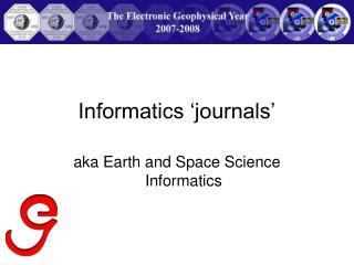 Informatics 'journals'