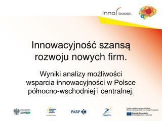 Innowacyjność szansą rozwoju nowych firm.