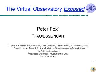 The Virtual Observatory  Exposed
