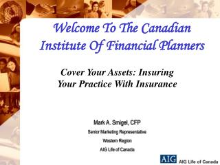 Welcome To The Canadian Institute Of Financial Planners