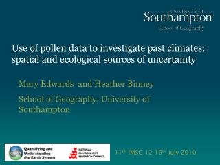 Use of pollen data to investigate past climates: spatial and ecological sources of uncertainty