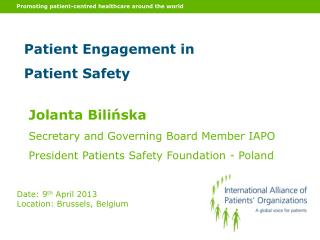 Promoting patient-centred healthcare around the world