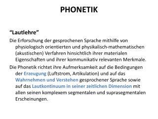 PHONETIK