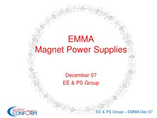 EMMA Magnet Power Supplies