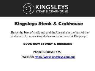 Best Steak And Crabhouse in Australia