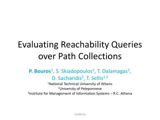 Evaluating Reachability Queries over Path Collections