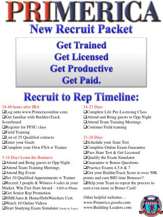 New Recruit Packet