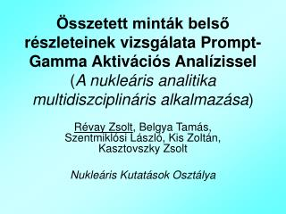 Révay Zsolt , Belgya Tamás, Szentmiklósi László, Kis Zoltán, Kasztovszky Zsolt