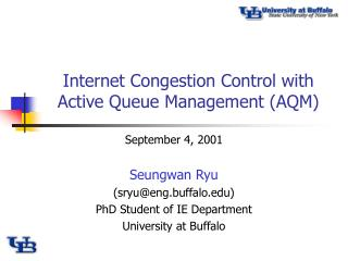 Internet Congestion Control with Active Queue Management (AQM)