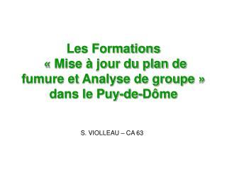 Les Formations  «Mise à jour du plan de fumure et Analyse de groupe»  dans le Puy-de-Dôme